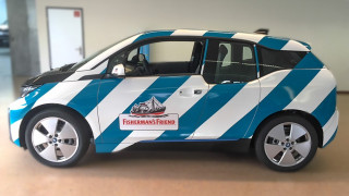 BMW i3 Car Wrapping Fisherman's Friend