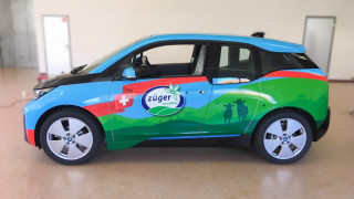 BMW i3 Car Wrapping Züger Frischkäse AG