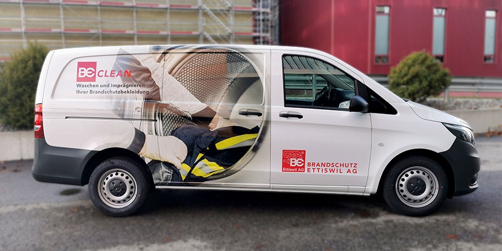 Mercedes Vito Beschriftung BE CLEAN Ettiswil