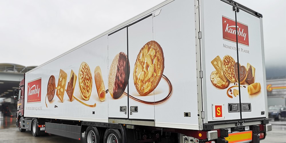 LKW Beschriftung Kambly SA
