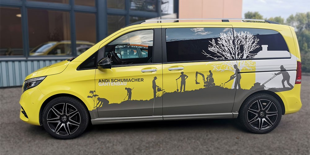 Car Wrapping/Vollverklebung Mercedes Andi Schumacher Gartenbau