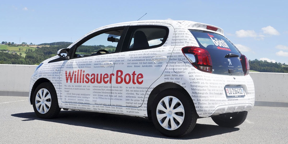 Car wrapping Willisauer Bote